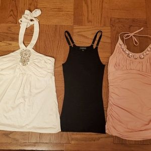 Lot of 3 Women's Top BeBe and White Black
